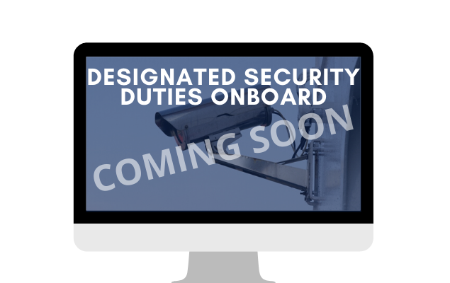 Designated Security Duties Onboard - live course