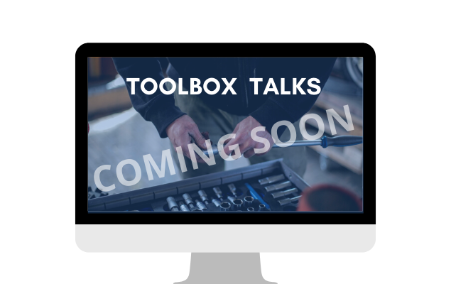 Toolbox Talks - live course    COMING SOON
